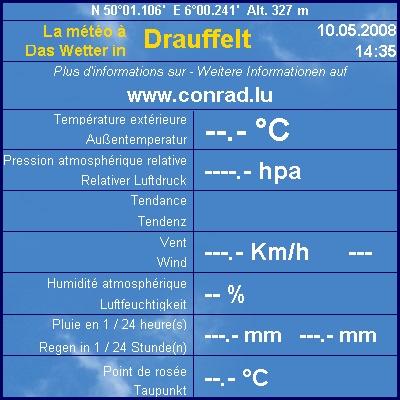 Das aktuelle Wetter in Drauffelt - Update alle 5 Minuten